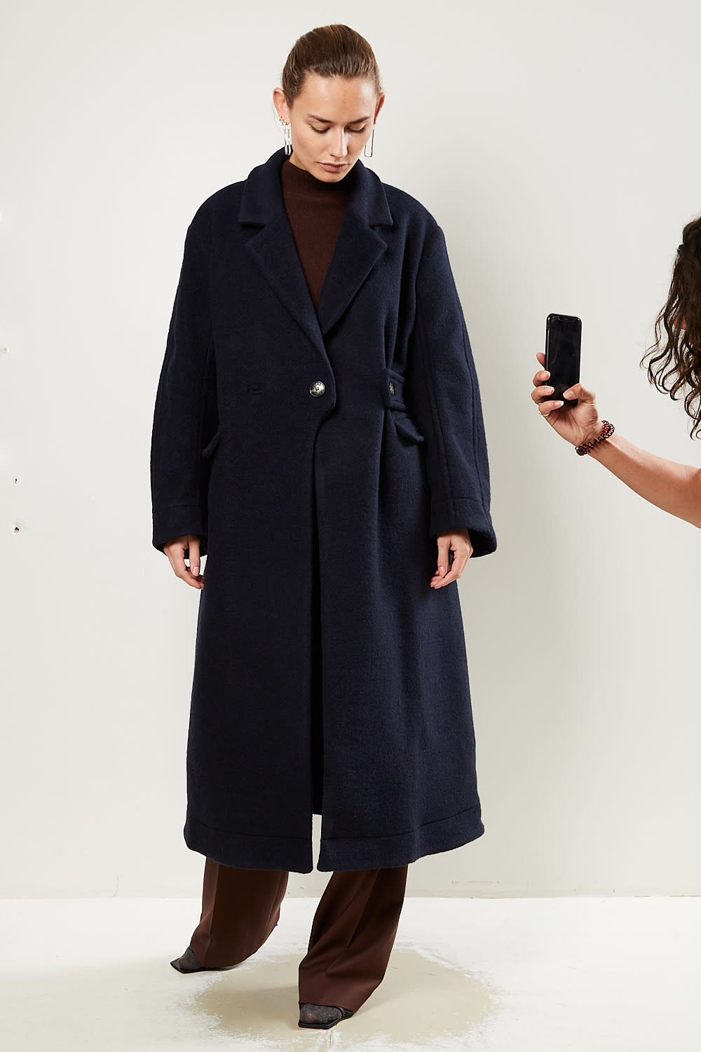 Ganni Double wool coat