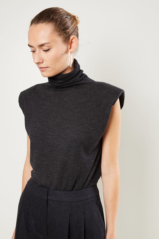 loulou studio - Fazziolu padded shoulder top