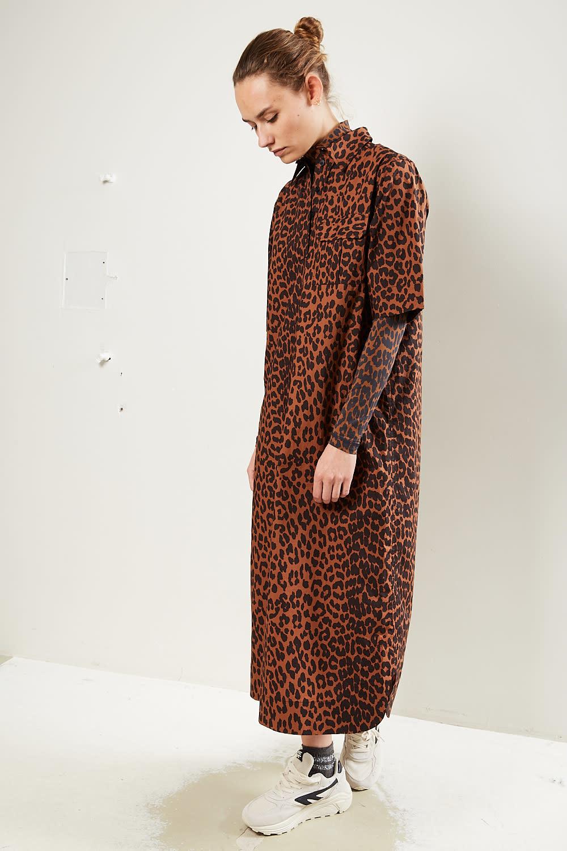 Ganni - Printed cotton poplin dress