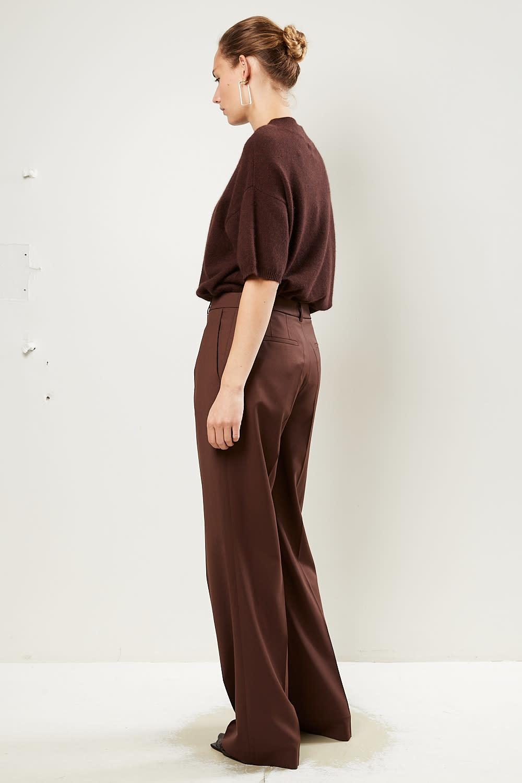 loulou studio - Sbiru 100% super wool pants