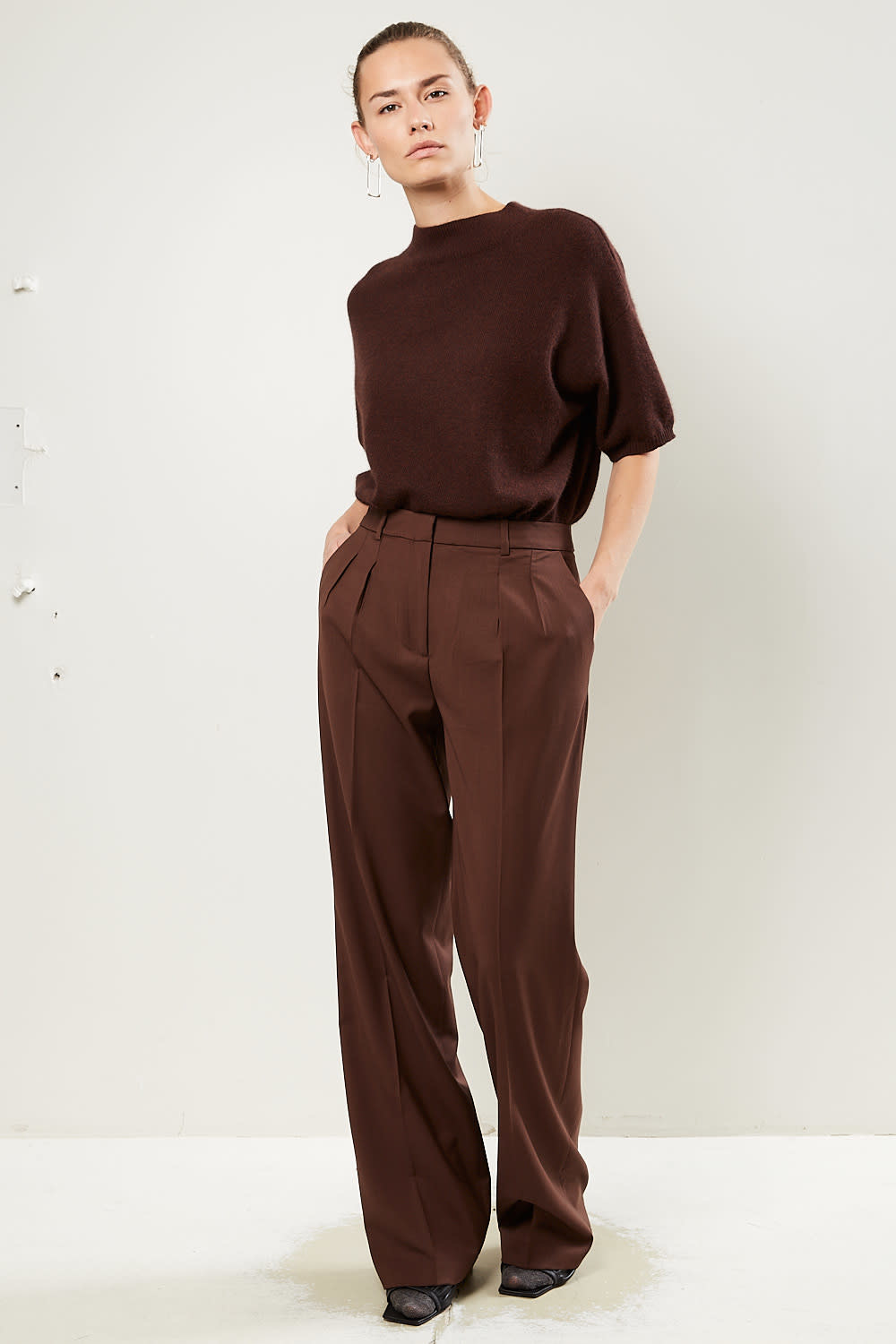 loulou studio Sbiru 100% super wool pants