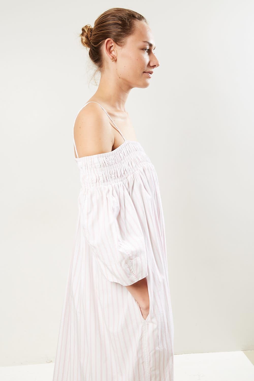 Ganni - Stripe cotton dress