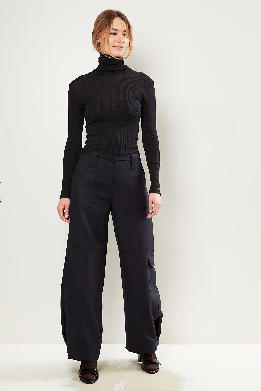 - Wool suiting pants