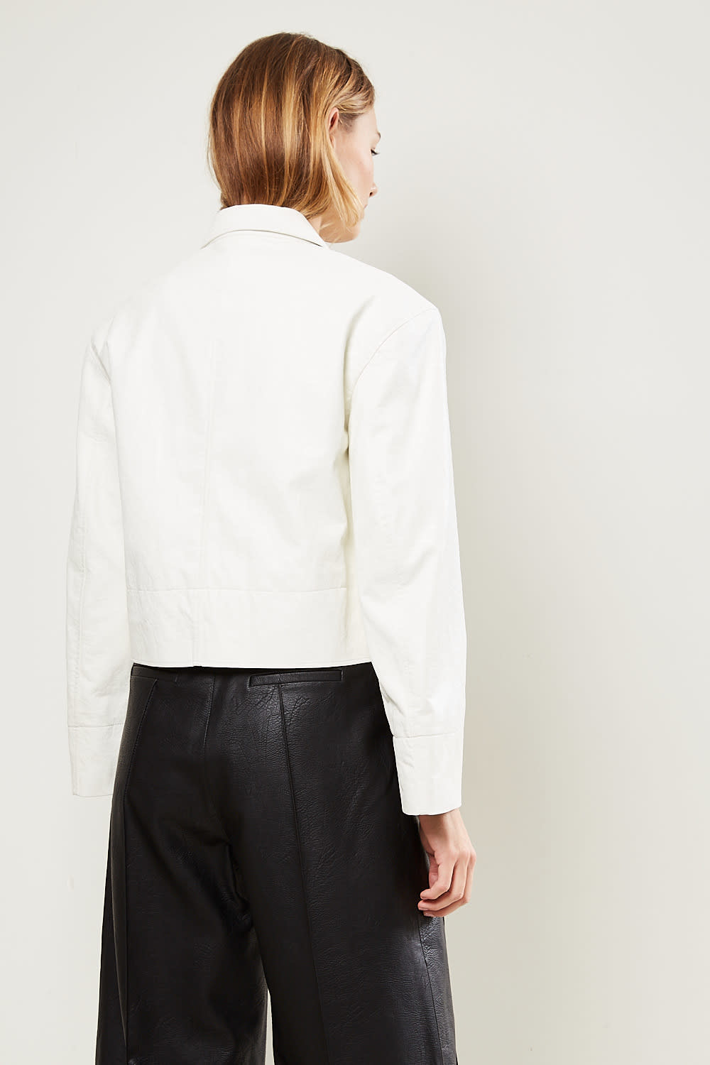 Drae - Faux leather button jacket