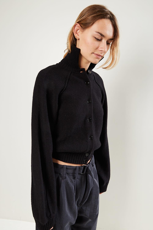Lemaire - High collar cardigan