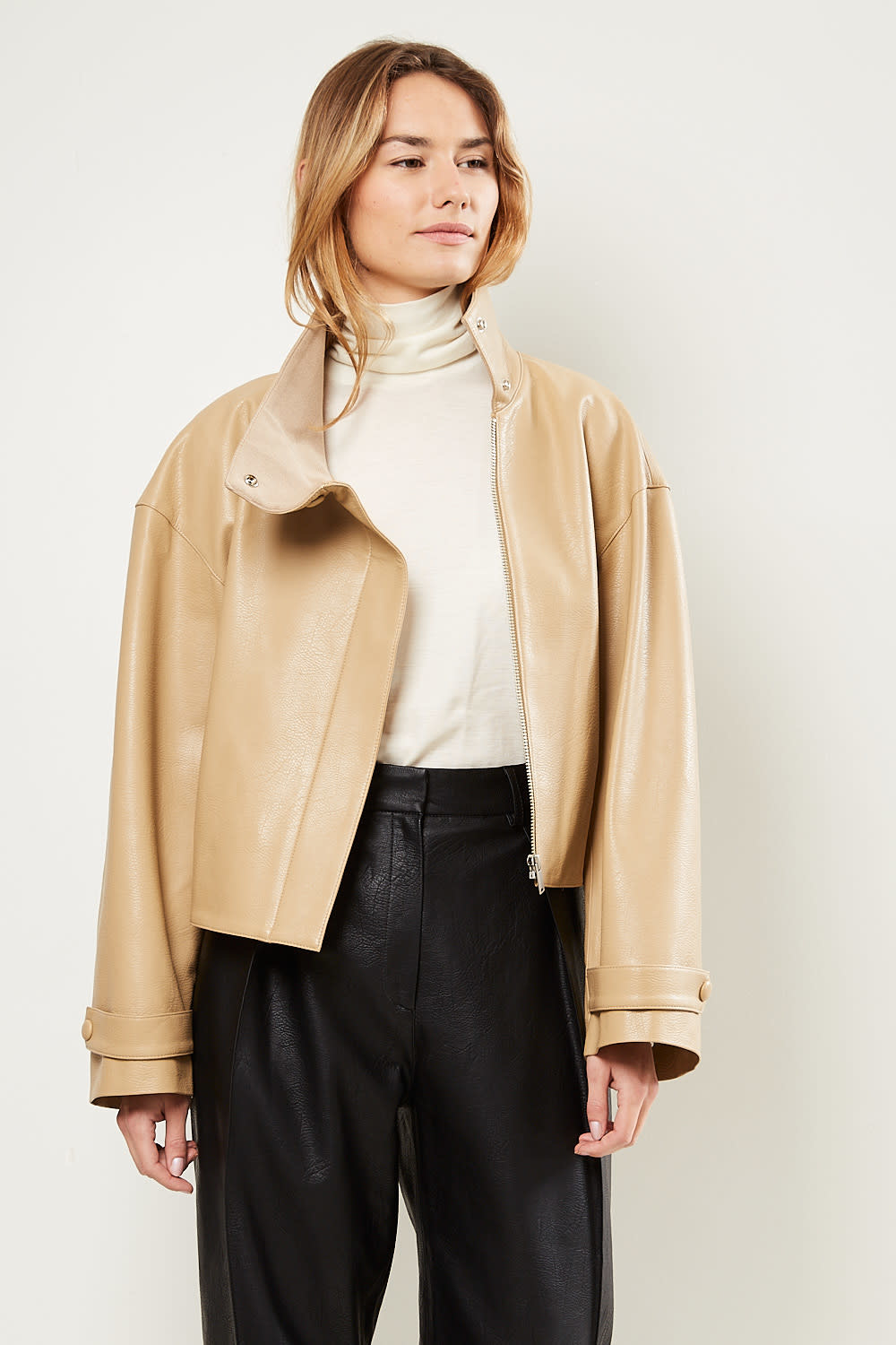 Drae Ian faux leather jacket
