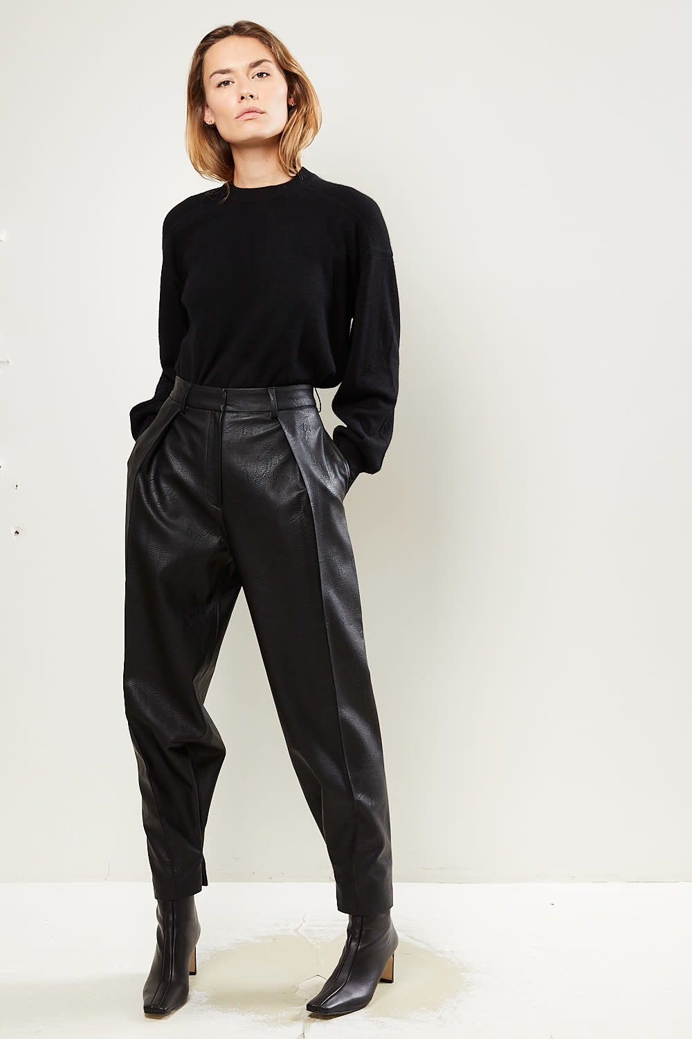 Drae Ian faux leather pants