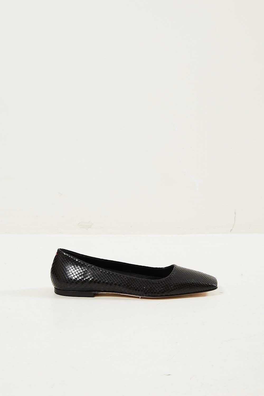 Aeyde - Gina snake glossy calf shoes