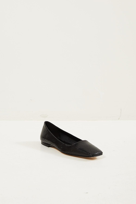 Aeyde Gina snake glossy calf shoes