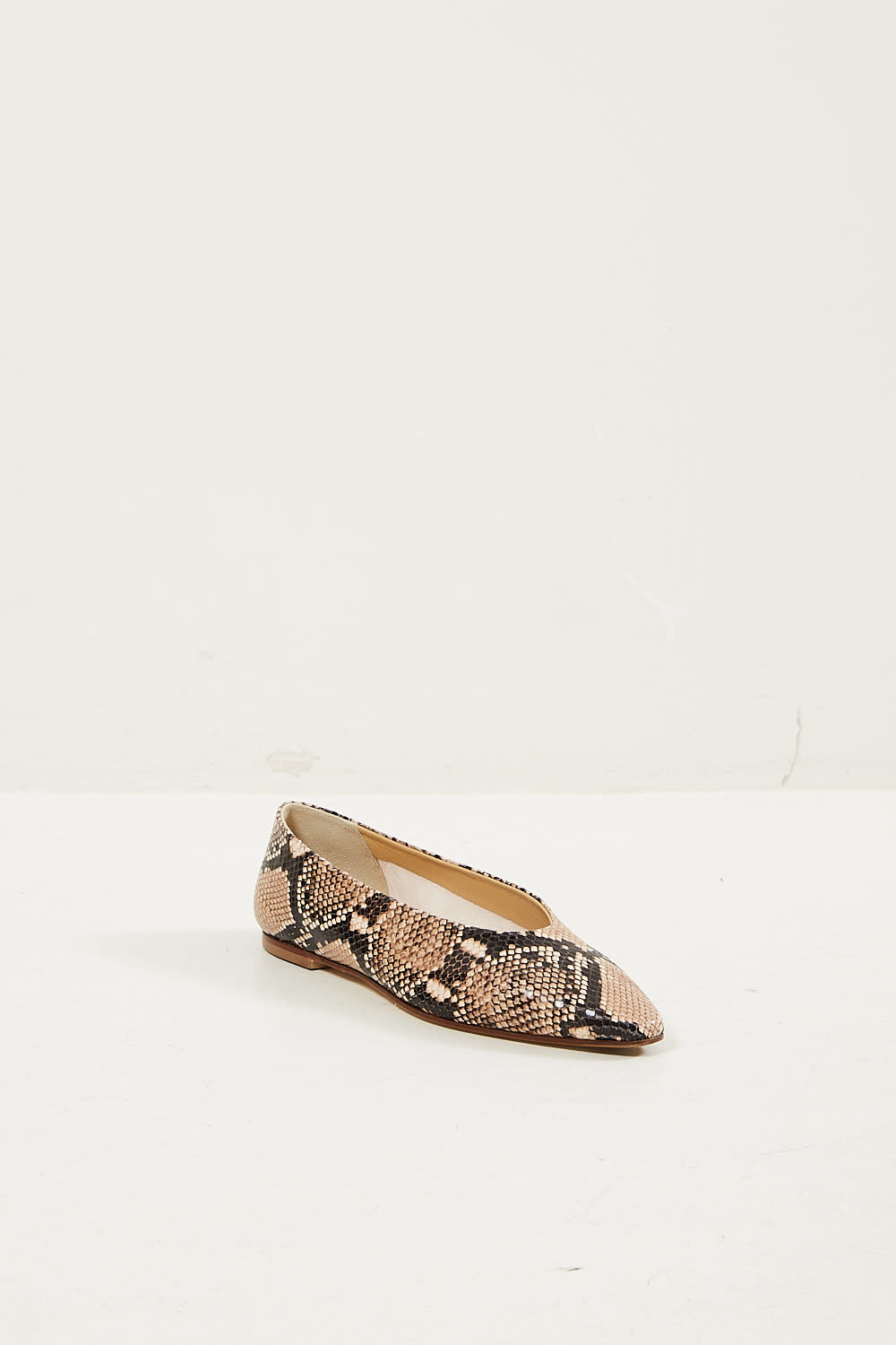 Aeyde Betty snake print calf leather flats