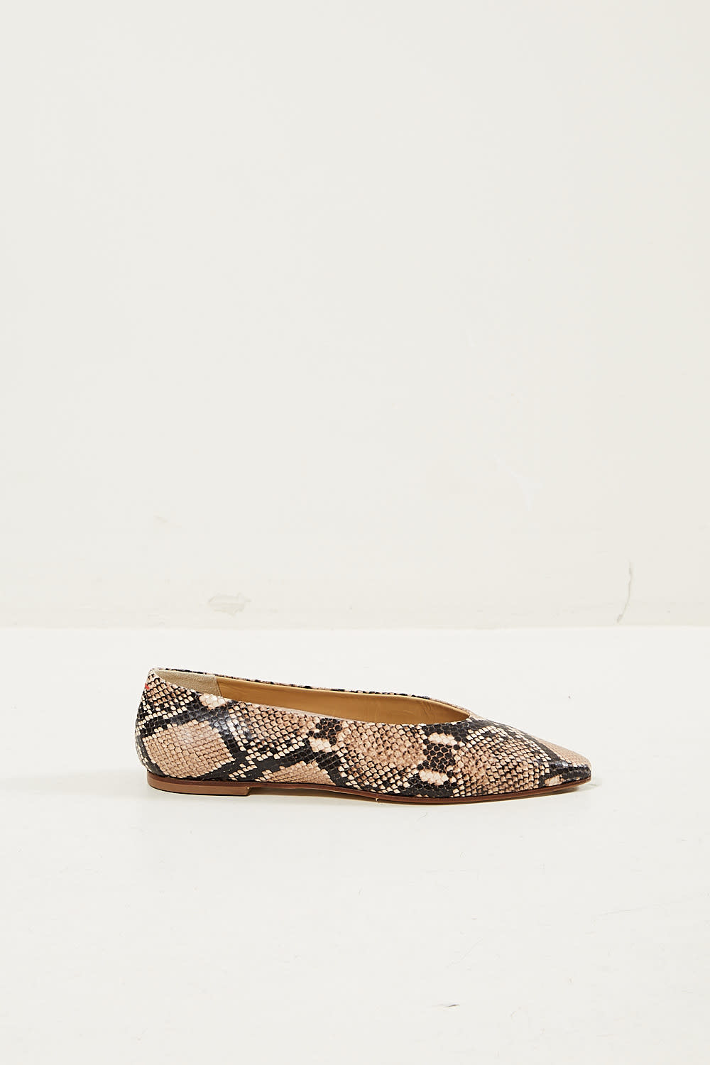 Aeyde - Betty snake print calf leather flats