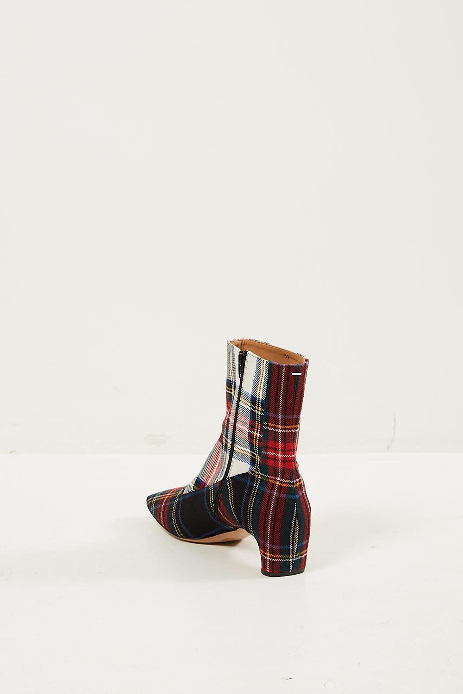 Maison Margiela - Tartan woven leather boots