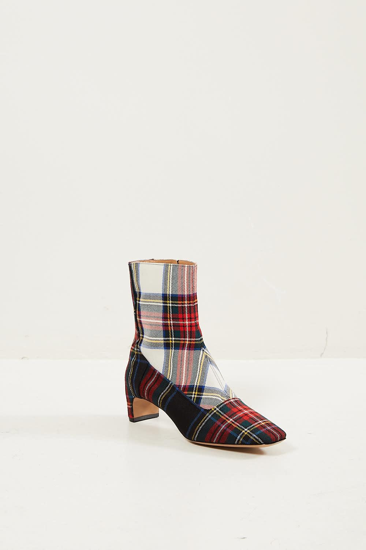 Maison Margiela Tartan woven leather boots