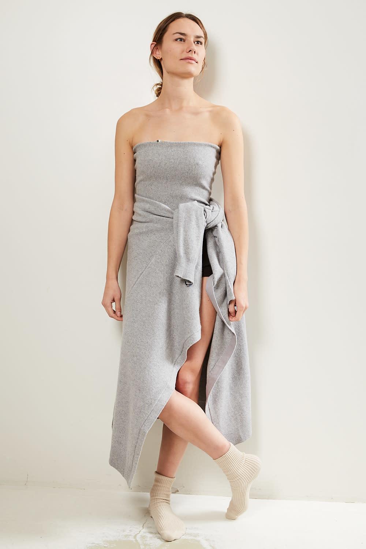 extreme cashmere - No8 rectangle shaped belt grey
