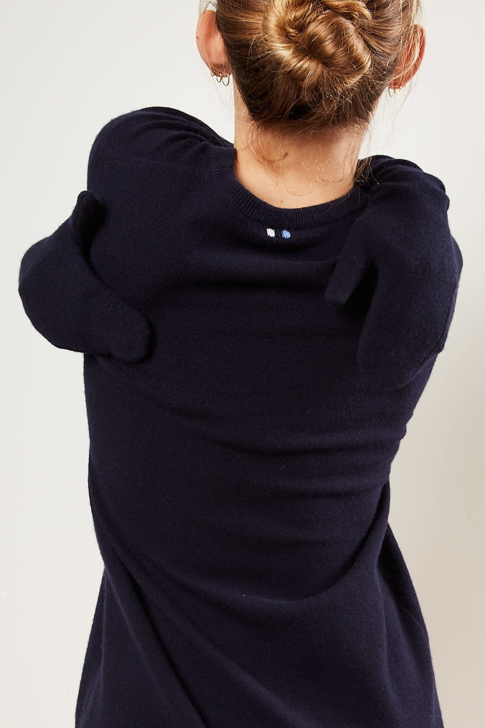 extreme cashmere - No79 ninja gloves with cotton ribbon