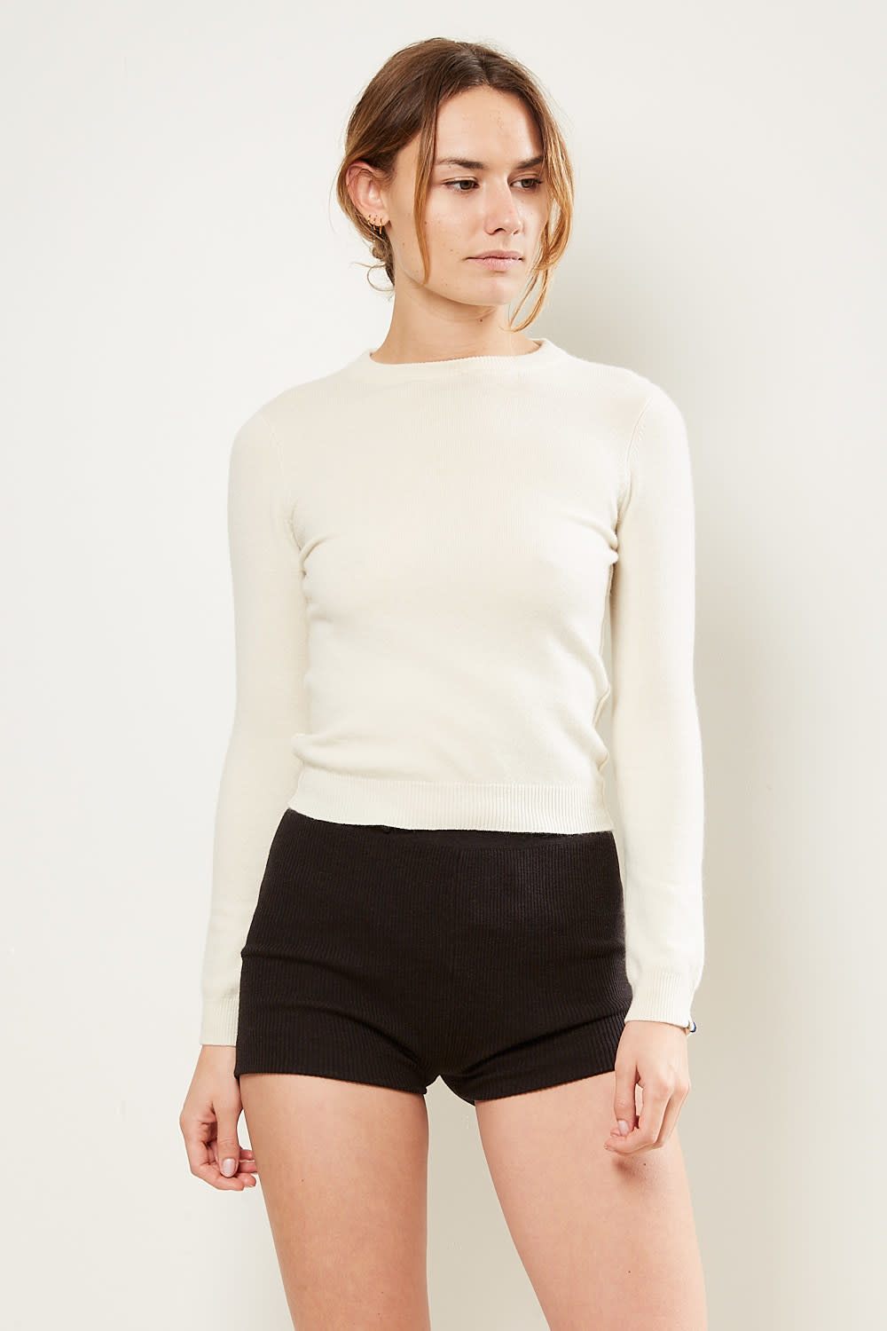 extreme cashmere No89 kid extra small sweater cream