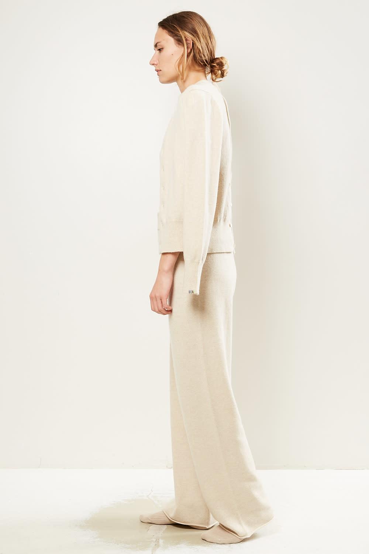 extreme cashmere - No104 wide leg trousers latte