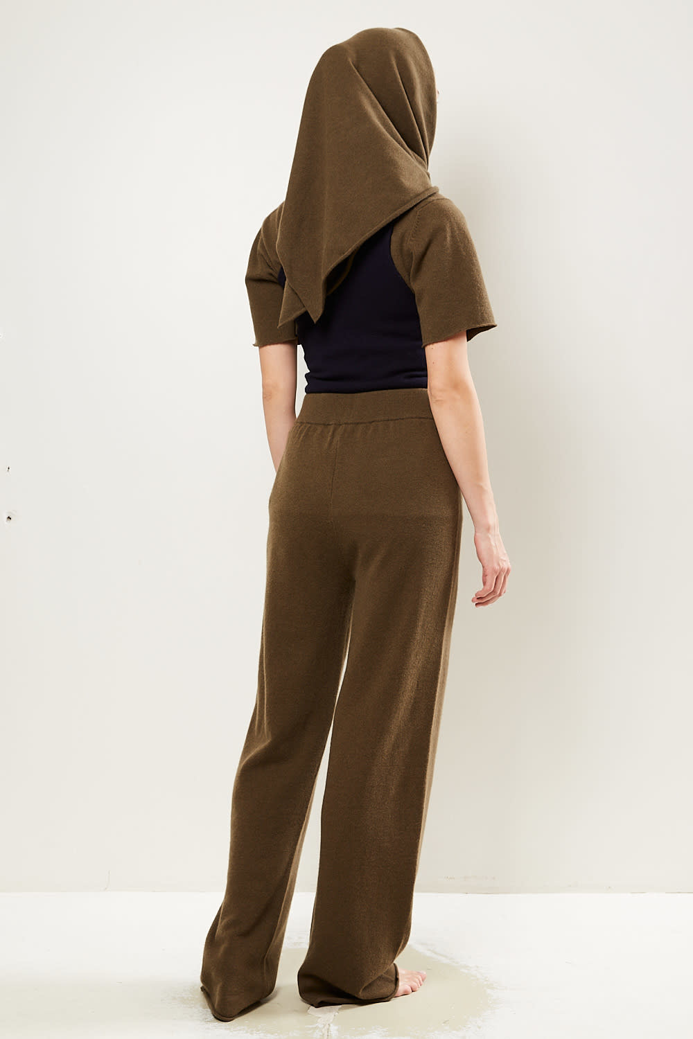extreme cashmere - No104 wide leg trousers brown