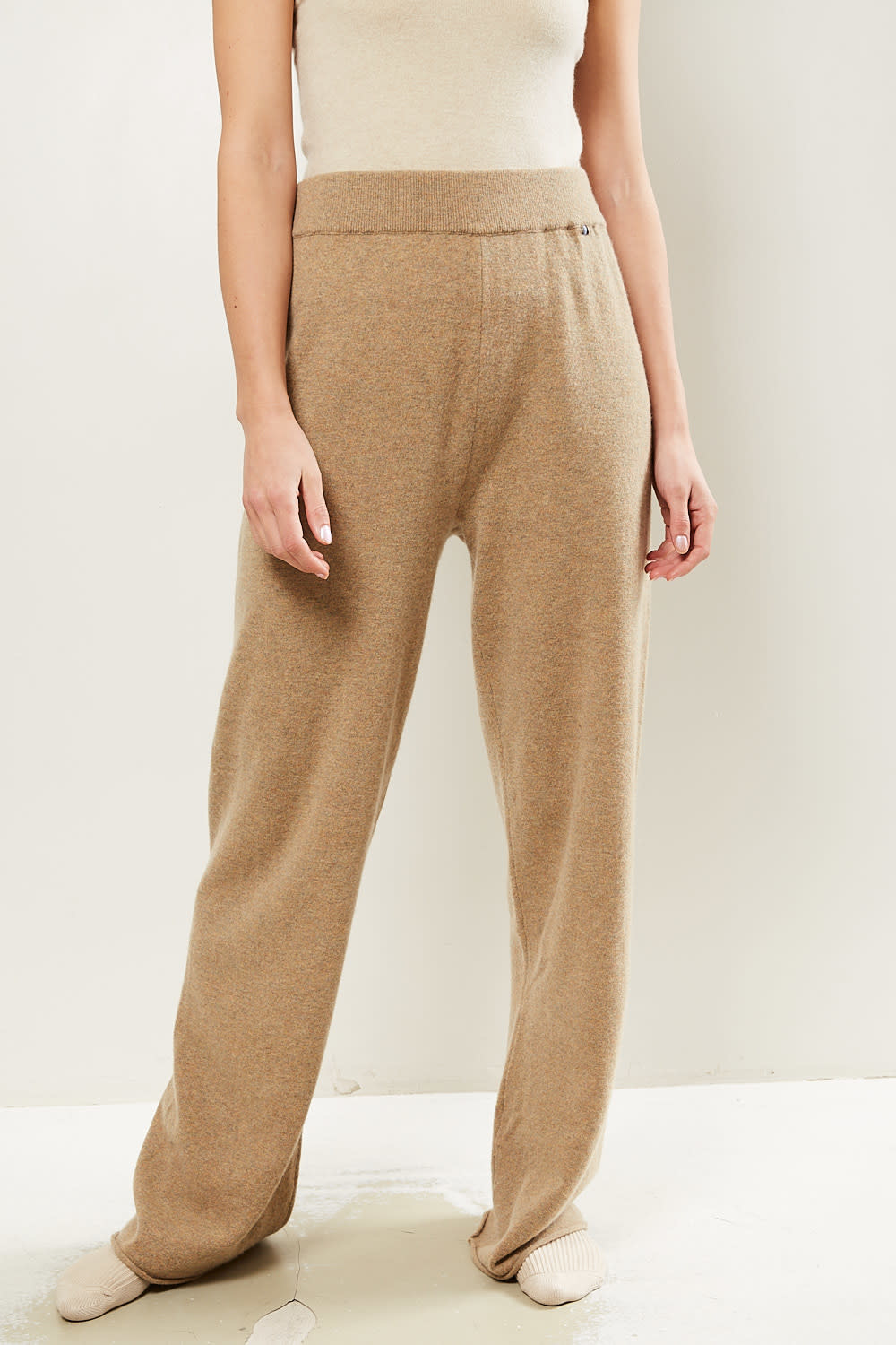 extreme cashmere - No104 wide leg trousers harris