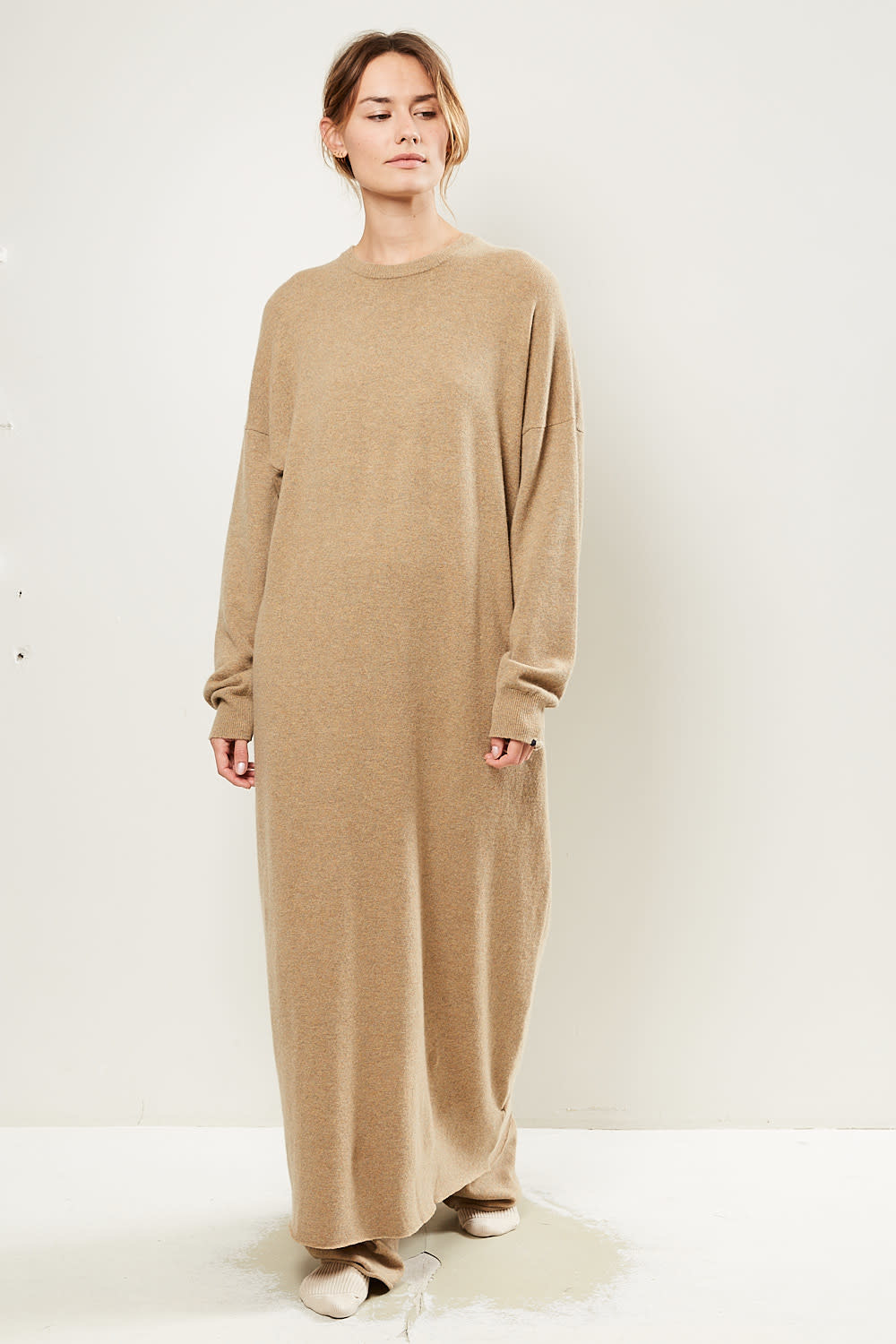 extreme cashmere No106 weird crew neck dress harris