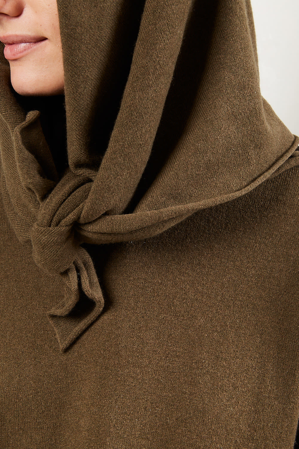 extreme cashmere - No111 carre square scarf brown