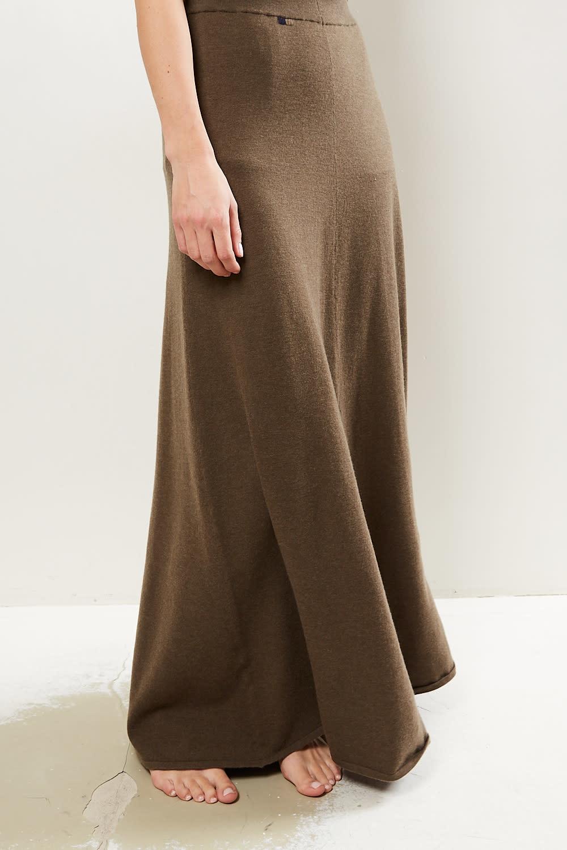 extreme cashmere - No122 sas 2/60 a line maxi skirt brown
