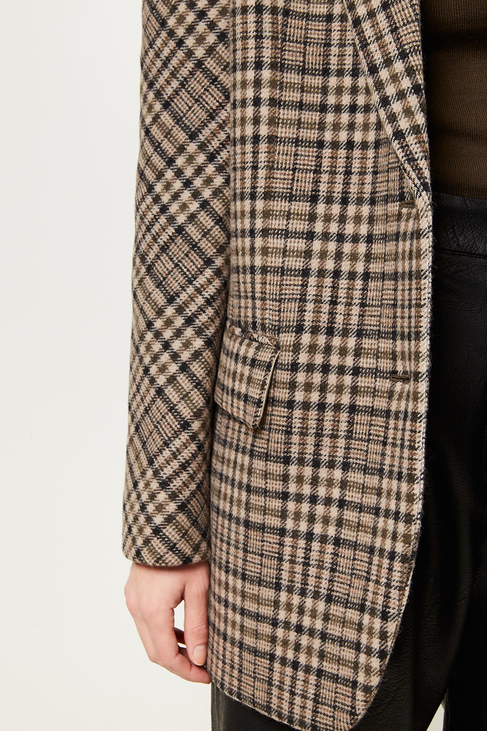Drae - Check wool blend jacket