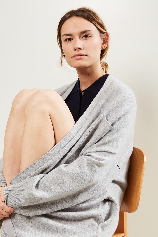 extreme cashmere - No61 Koto long version cardigan grey