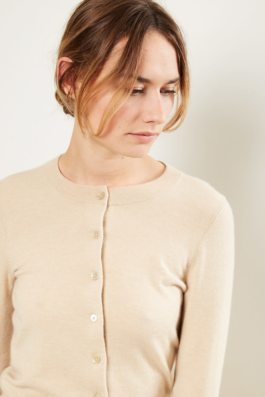 extreme cashmere - Little extreme cardigan beige