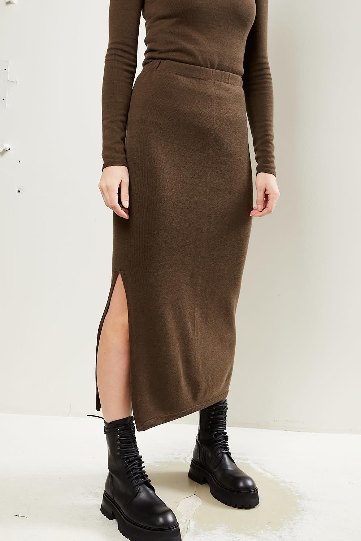 Drae - Wool knit skirt