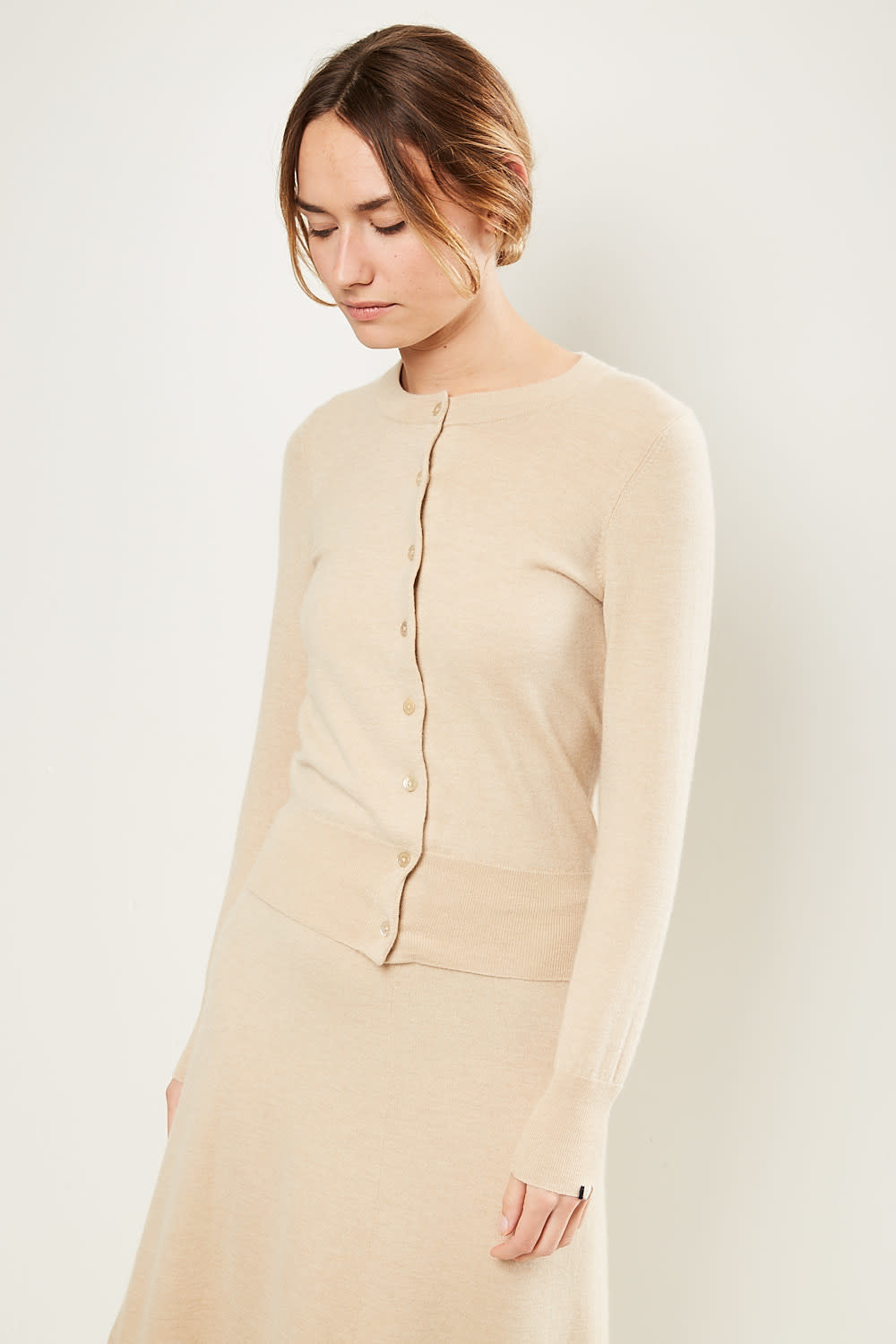 extreme cashmere - No99 little cardigan beige