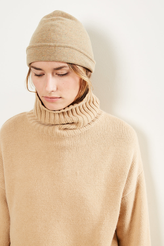 extreme cashmere No80 bijou double layered beanie