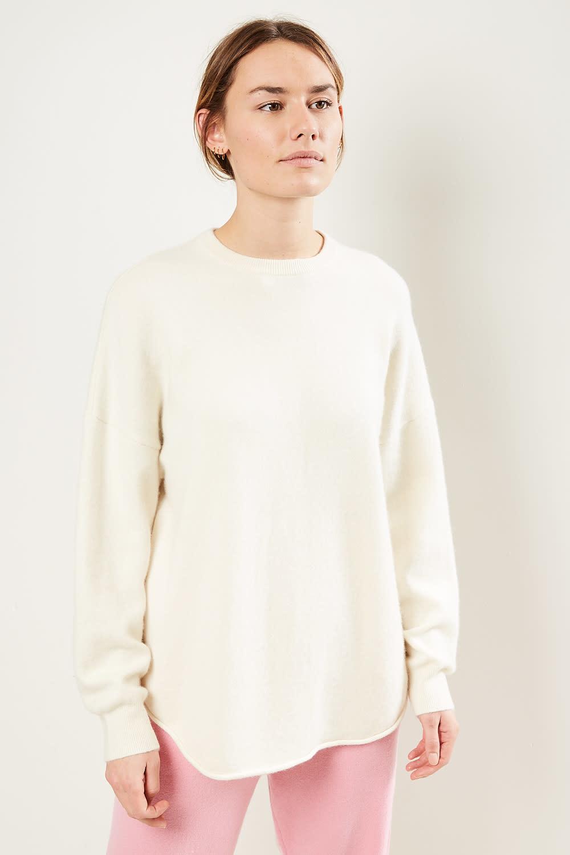 extreme cashmere - No53 crew hop sweater cream