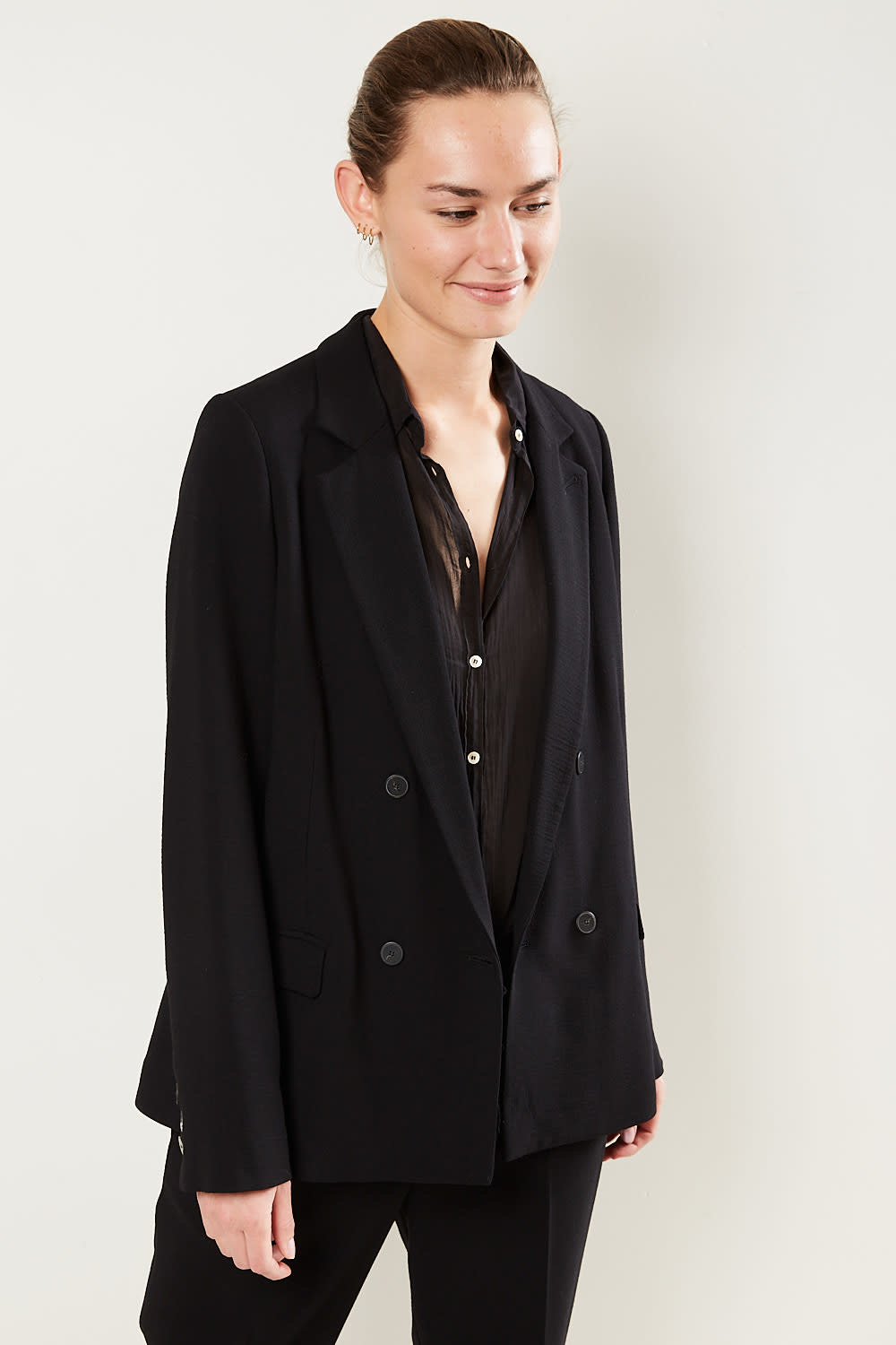 Forte Forte Double breasted wool viscose crepe jacket