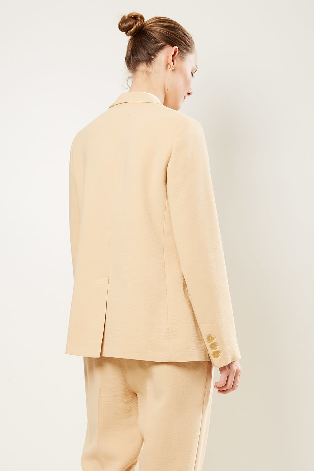 Forte Forte - Double breasted wool viscose crepe jacket