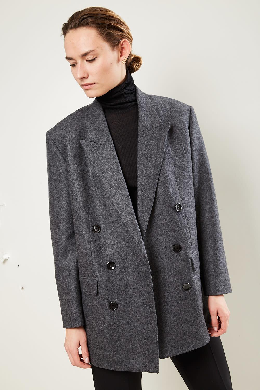 Isabel Marant Oladimia chic flannel jacket