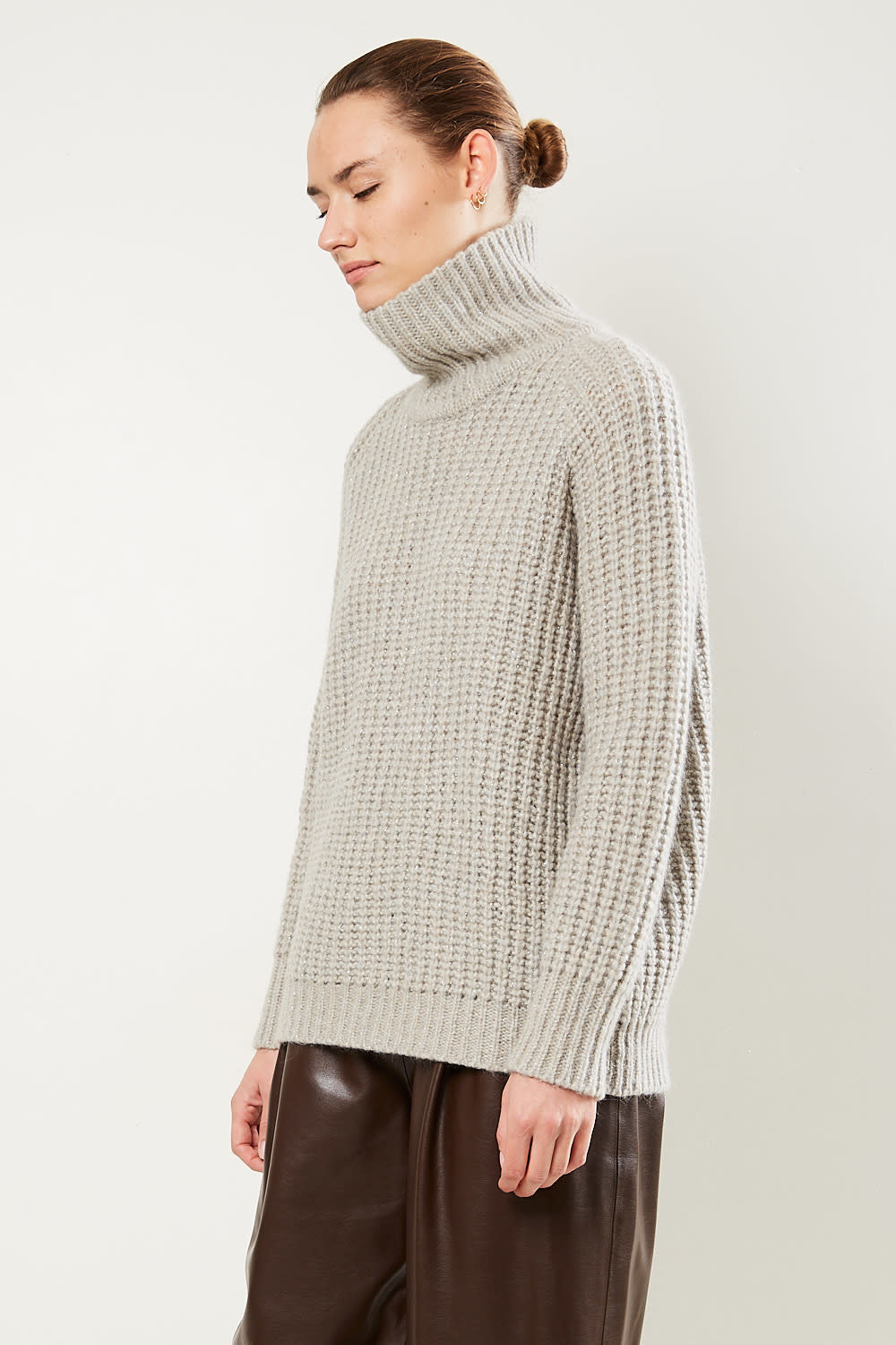 inDRESS - Oversized high neck sweater