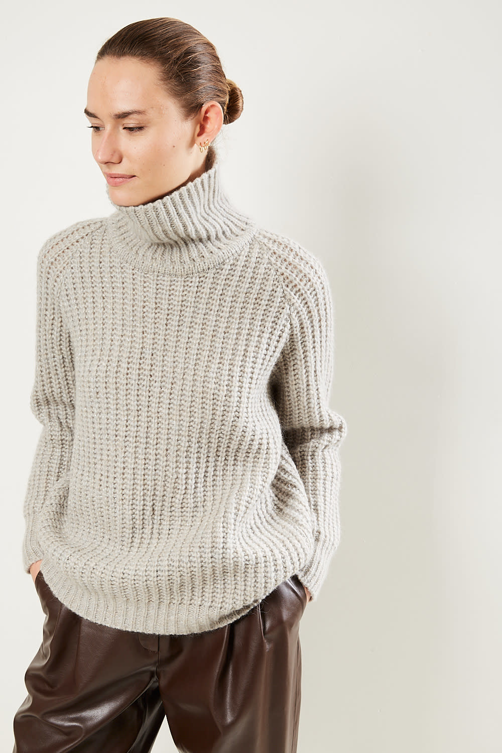 inDRESS Oversized high neck sweater