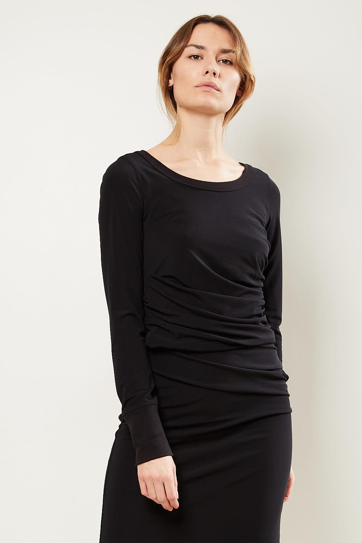 Helmut Lang - Twist wide neck crepe top