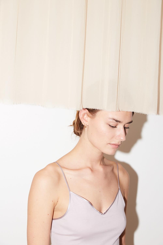 hanro - V-neck seamless cotton spaghetti top