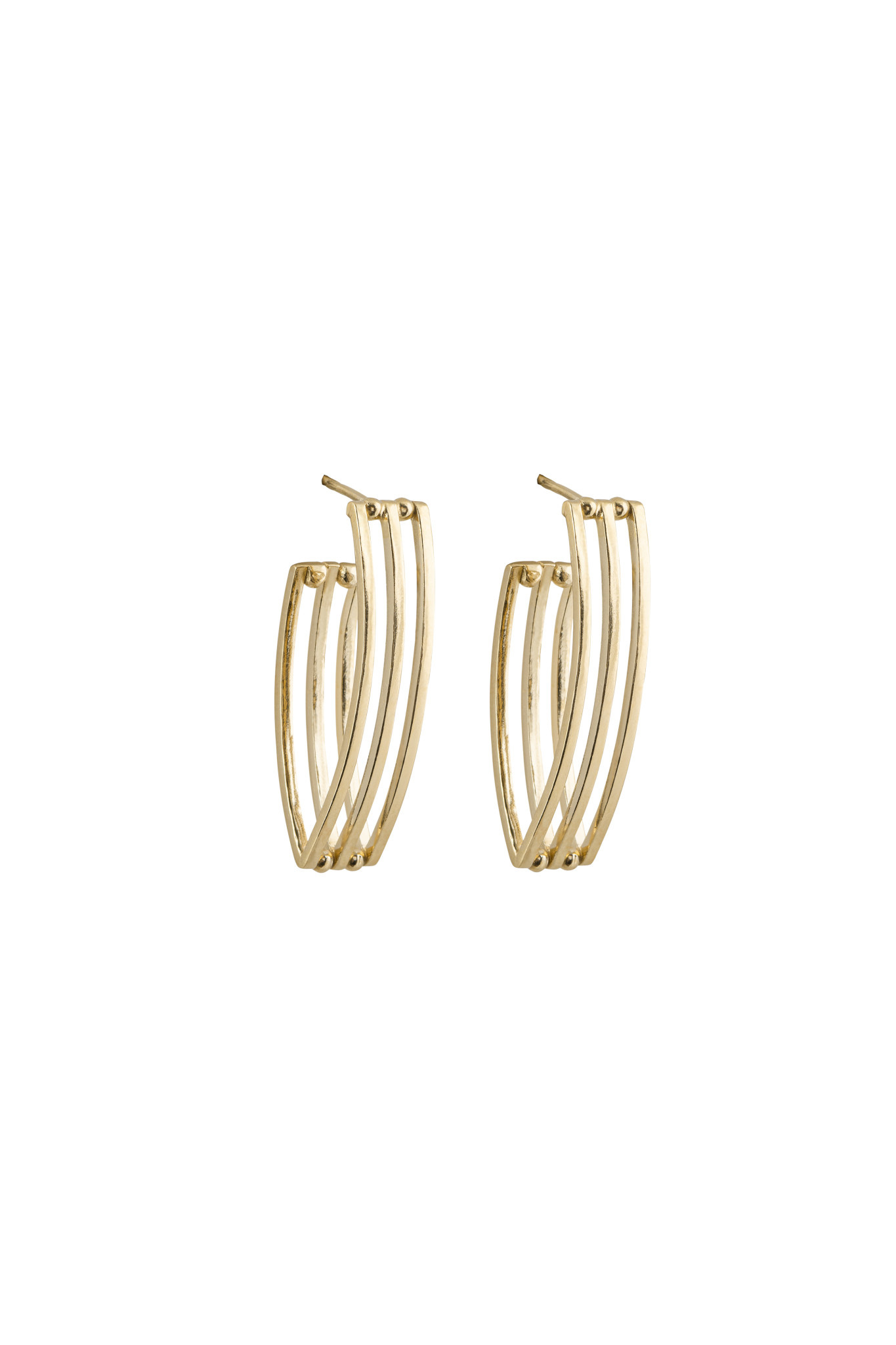 Studio Collect Open Grid Oval Hoops