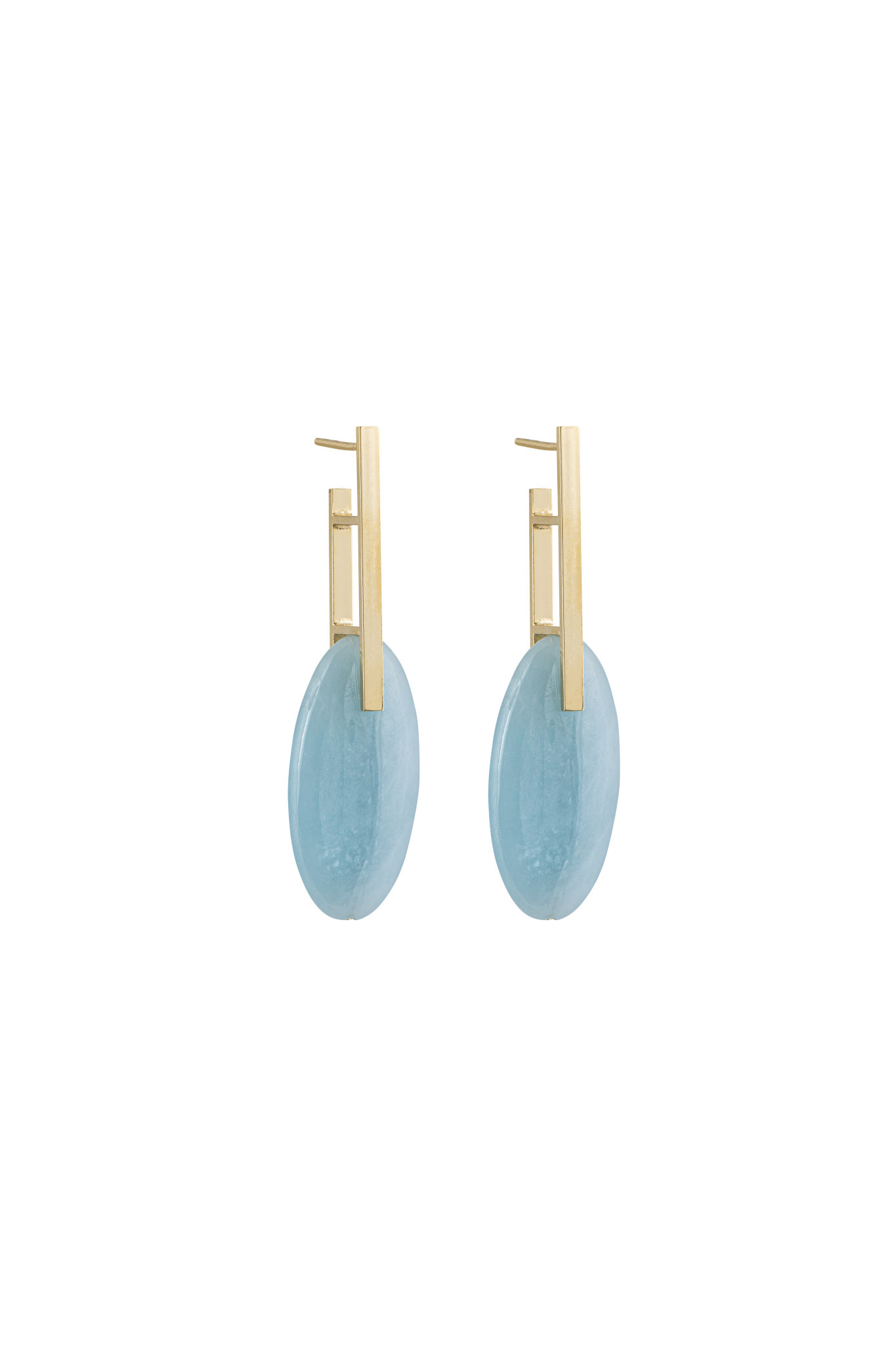Studio Collect - Minimal Aquamarine Statement Earrings