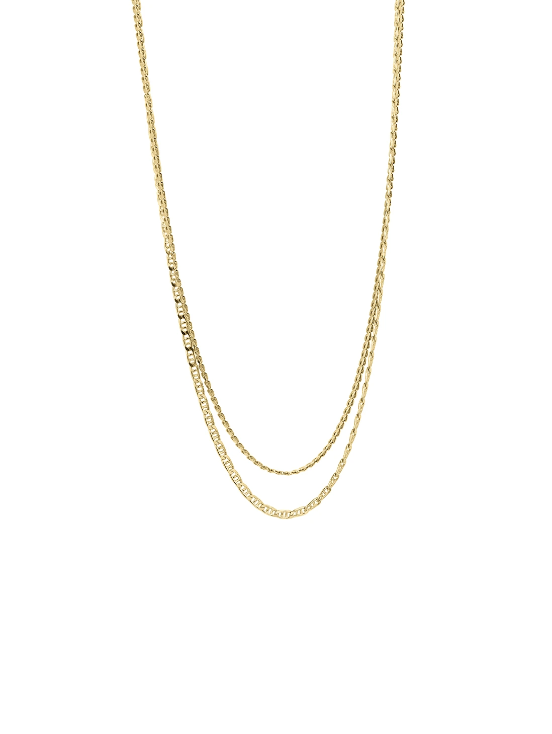 Studio Collect Double chain gold plated necklace