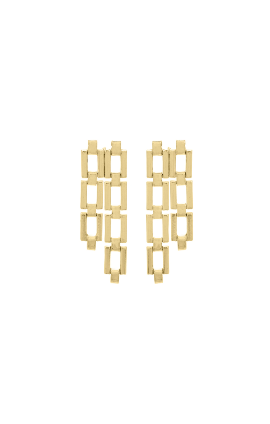 Studio Collect Rectangular link earrings