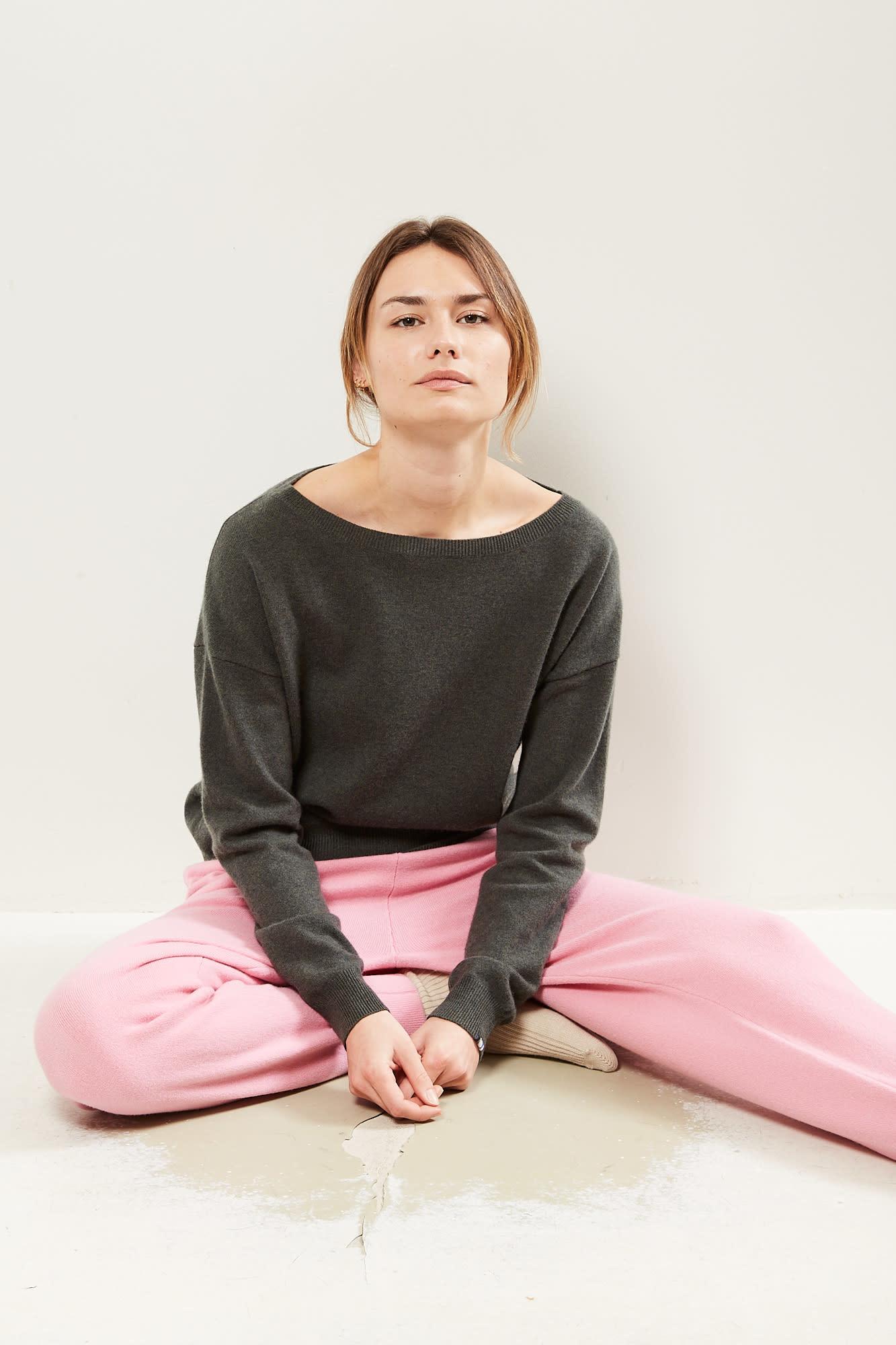 extreme cashmere No39 Should off shoulder sweater