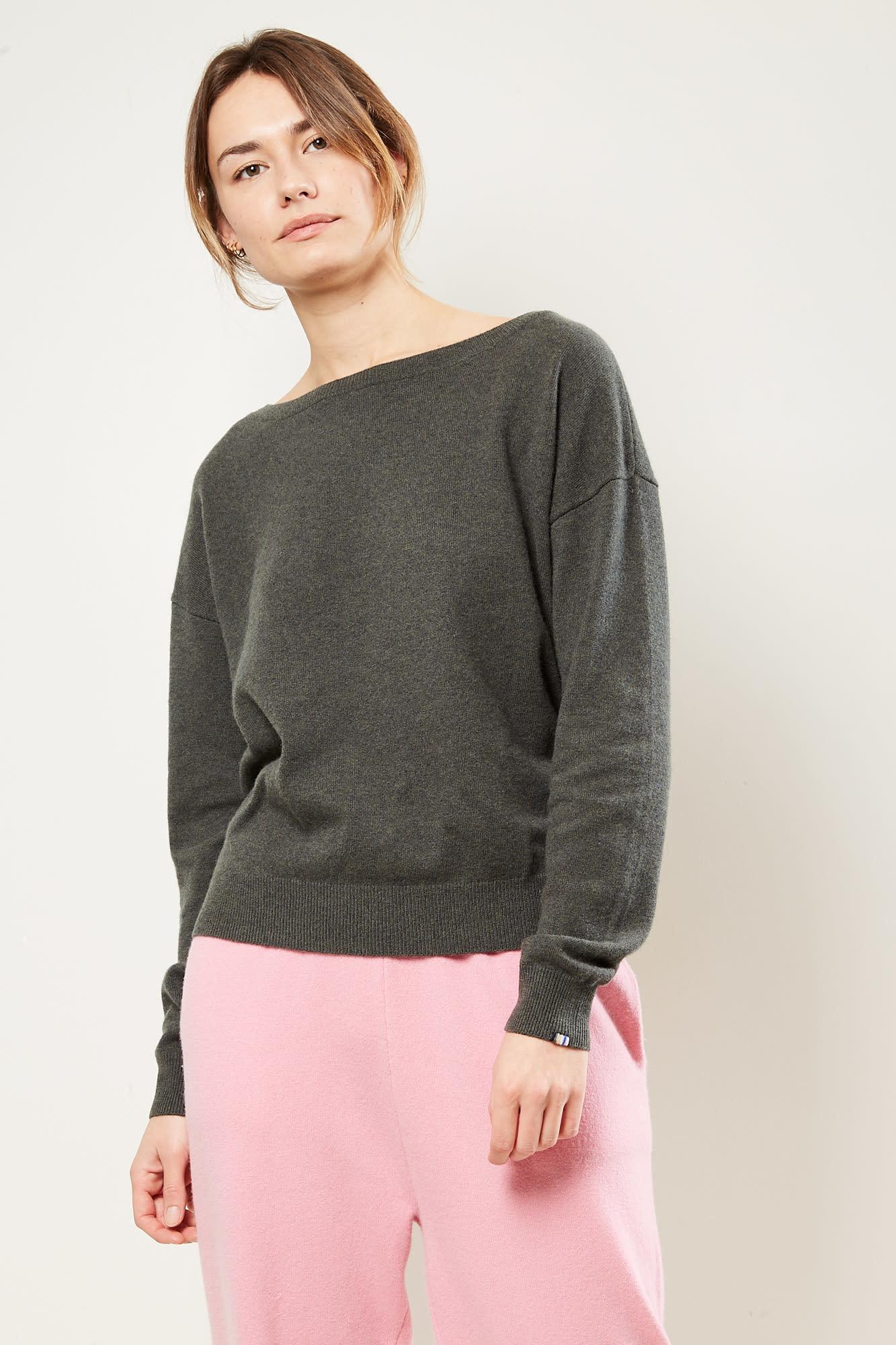 extreme cashmere - No39 Should off shoulder sweater