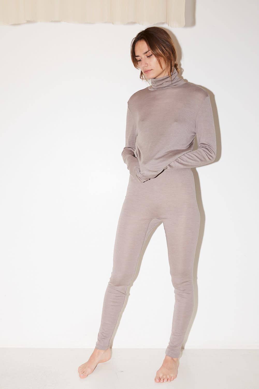 hanro long woolen silk legging