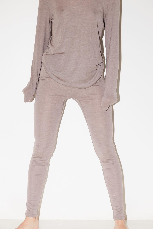 hanro - long woolen silk legging
