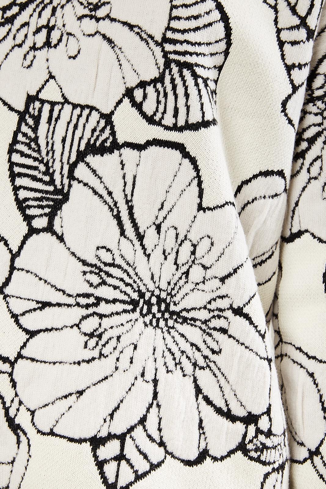 Christian Wijnants - Kia flower jaquard knit sweater