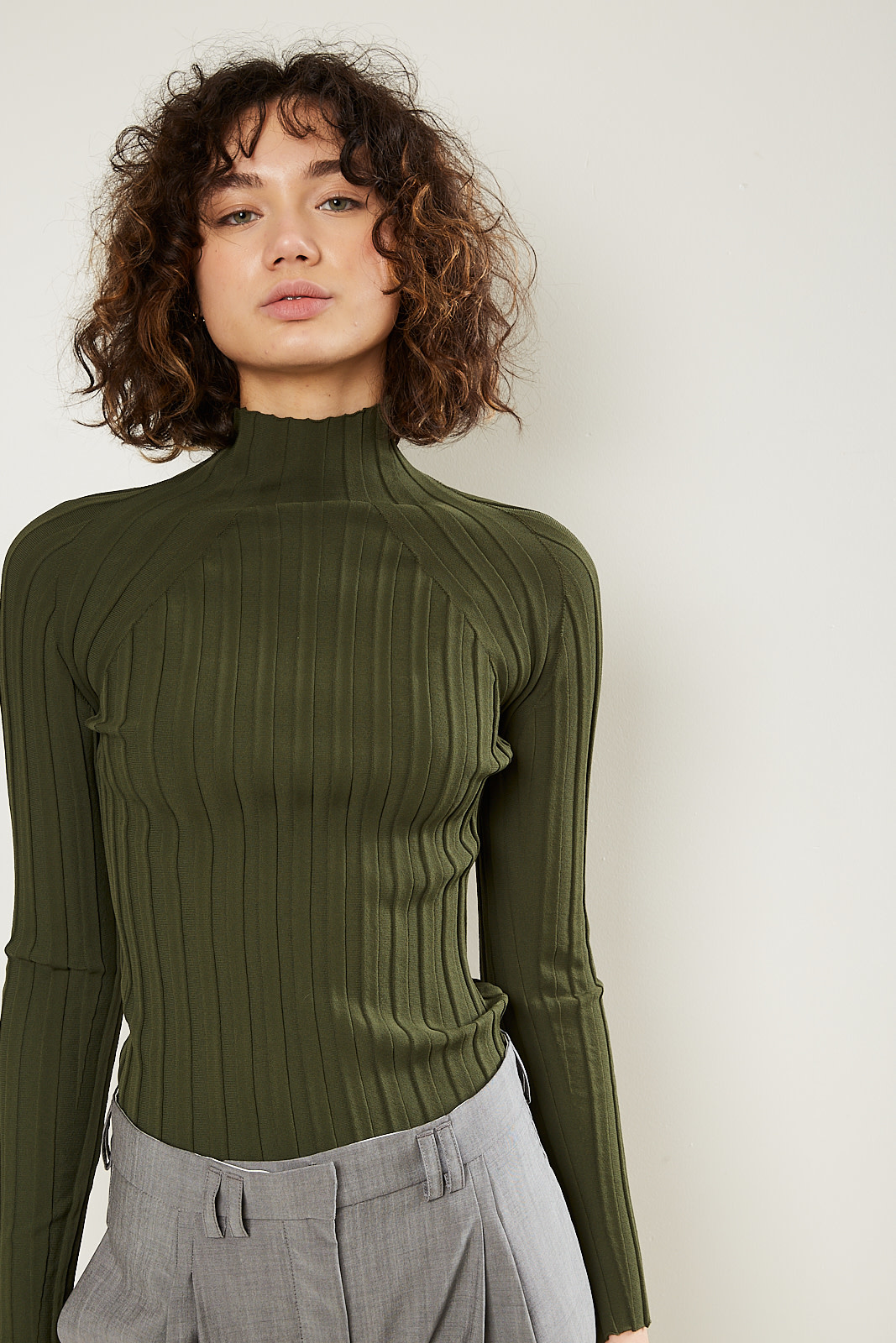 Christian Wijnants Kyras fitted ribbed turtle neck